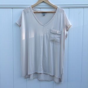 Kenneth Cole Reaction low-high v-neck tee shirt XL